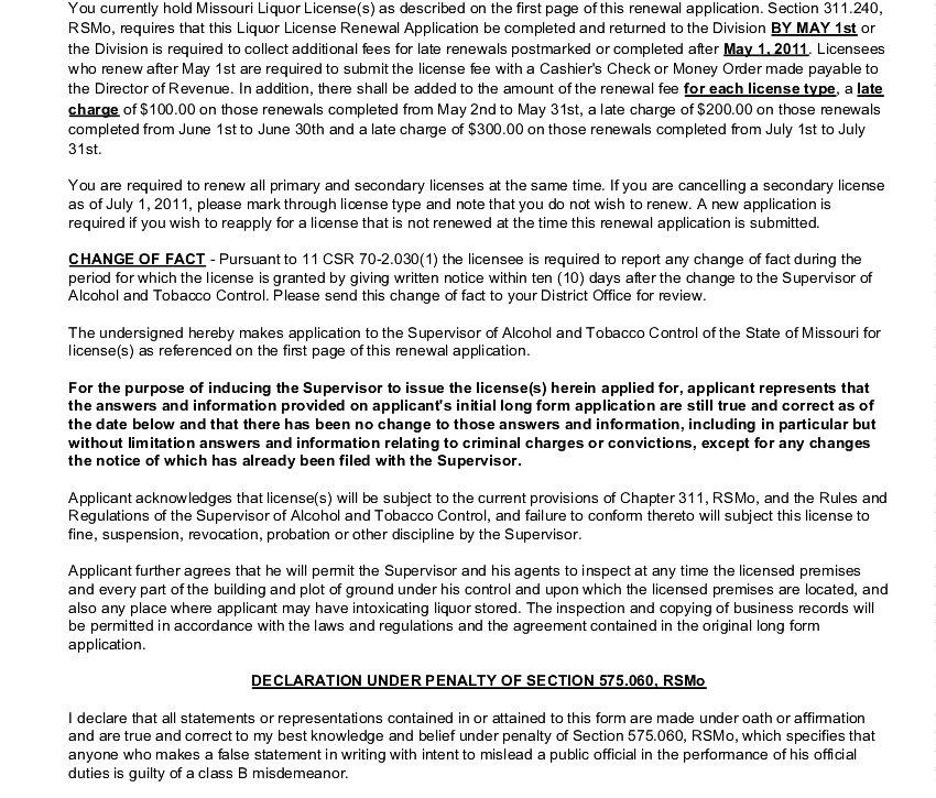 license renewal description